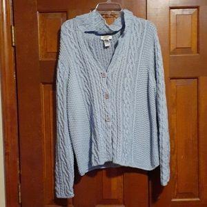 New Talbots crocheted soft sweater